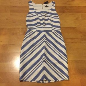 NWT The Limited Women's size 8 Cream & Blue Dress